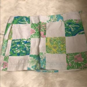 White patterned Lilly Pulitzer skort